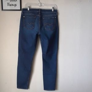 7 For all mankind womens 30 ankle skinny Jeans